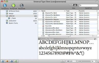 Universal Type Server client