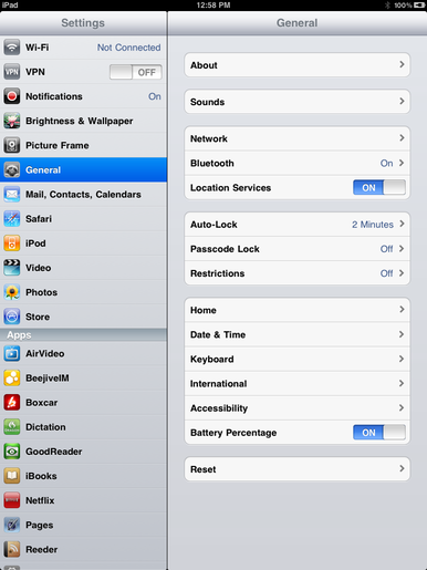 Going under the iPad\'s hood with Settings | Macworld