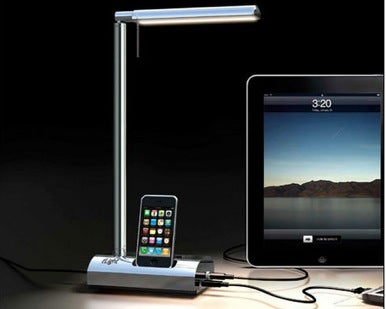 ... The Tu0027Light Boasts A Sleek, Minimalist Design With A Built In IPod Dock  At Its Base. It Also Features A USB Port For Charging Mobile ...