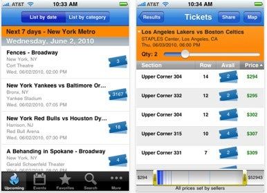 stubhub an online marketplace for event tickets has released its own free app for iphone ipad and ipod touch the stubhub app lets you search and make