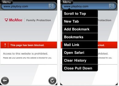 McAfee releases new mobile parental controls utility | Macworld