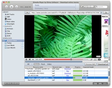 A lightweight utility which lets you play SWF and FLV videos