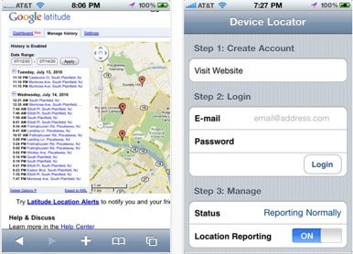 location software iPhone