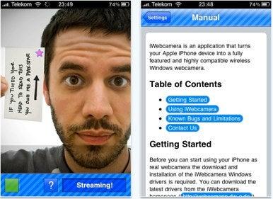 iWebcamera 2 0 released, includes full iPhone 4 support | Macworld