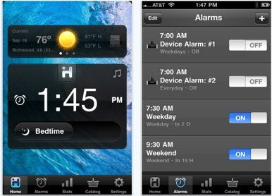 iHome makes iHome+Sleep app universal, updates interface   Macworld