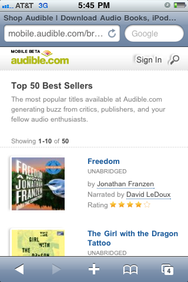 Audible com adds mobile store to iPhone app | Macworld