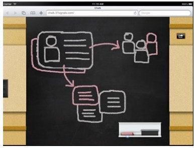 Chalk Web app turns your iPad into a Safari-based chalkboard | Macworld