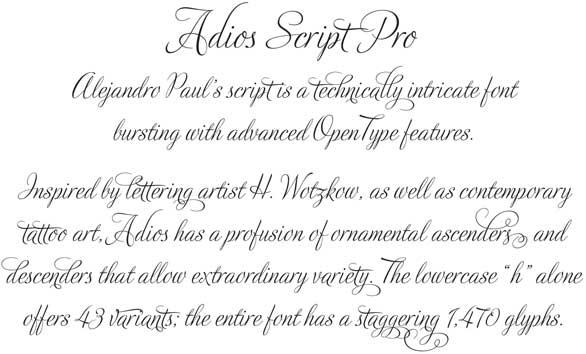 Adios Script A Smart Font