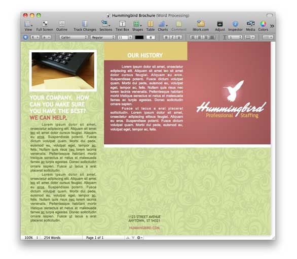 Pages Flyer Template. brochure template etsy. diversify your pages ...