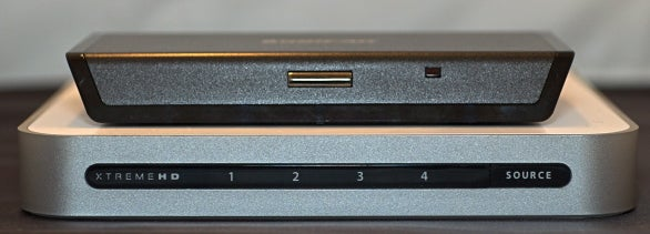 Iogear's HDMI switch (top) and XtremeMac's offering (bottom)