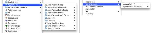 AppMenuBoy AppleWorks folder