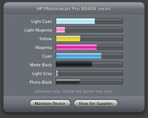 HP print utilities