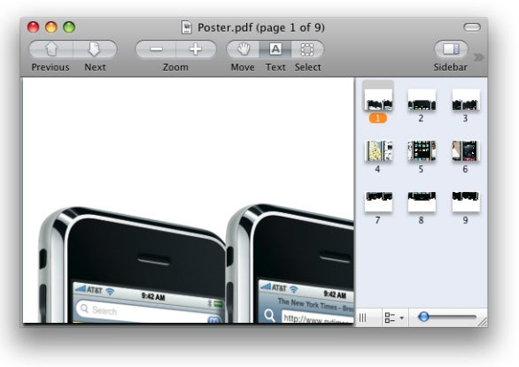 PosteRazor PDF output