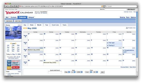 Review: Yahoo Calendar | Macworld