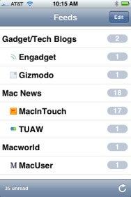 Browsing feeds in NetNewsWire