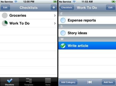 Tanjas Checklist