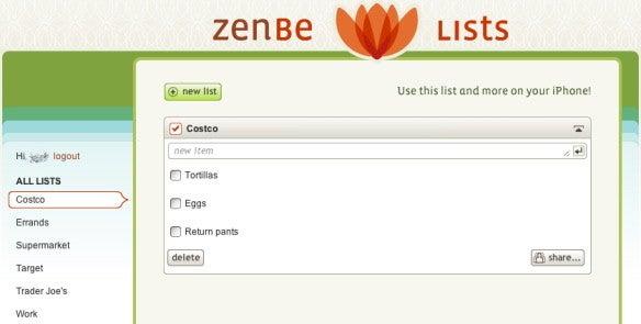 Zenbe Web site