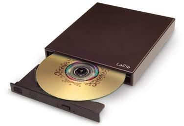 LaCie Portable DVD±RW with LightScribe, Design by Sam Hecht