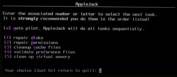 AppleJack menu