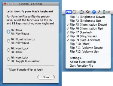FunctionFlip setup and settings