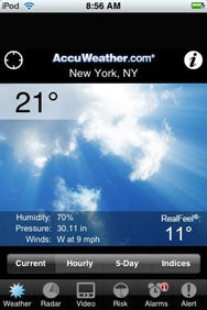 Review: AccuWeather com for iPhone | Macworld