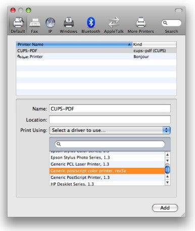 Driver mac printer pdf for