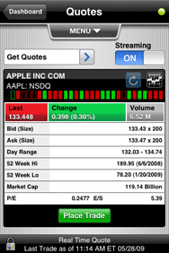 Stop On Quote Etrade Delectable Dailyfinance And Etrade Mobile Pro For Iphone  Macworld
