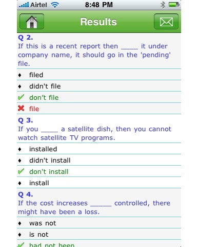 Grammar Up - results window