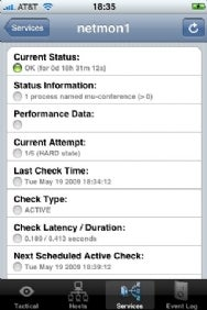iNag Service Status