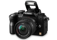 Panasonic Lumix DMC-G1 in black.