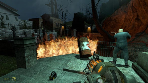 Half Life 2 boasts impressive physics effects