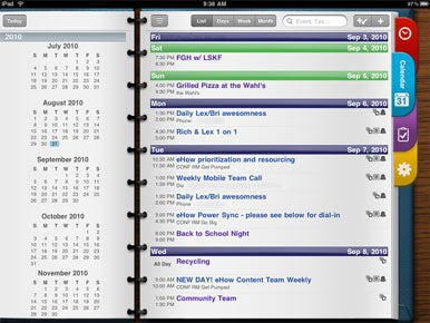 Pocket Informant HD for iPad