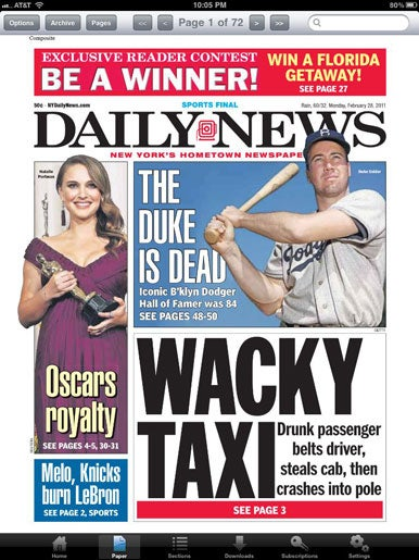 new york tabloid newspapers for the iphone macworld