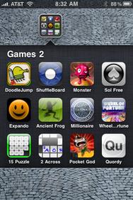 iOS 4 folders