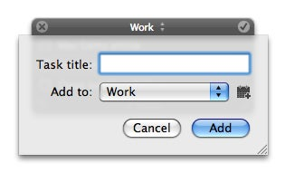 Anxiety New Task window