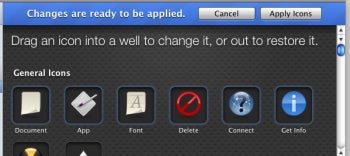Changing icons